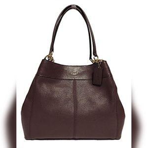 Coach F57545 Lexy Leather Shoulder Bag Oxblood